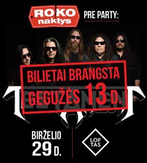 Roko Naktys Pre-Party: Testament (US)