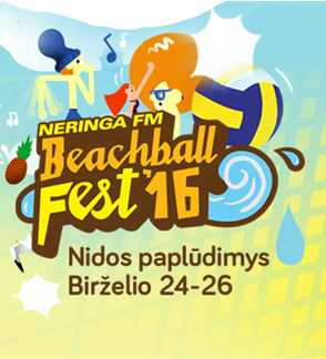 "Muzikos ir tinklinio festivalis ""NeringaFM Beachball FEST`16"""