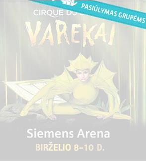 Pasiūlymas grupėms: Elitinis pasaulio šou Cirque du Soleil – Varekai