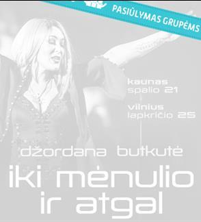 """Pasiūlymai grupėms: Džordanos Butkutės koncertas """"Iki Mėnulio ir atgal"""""""