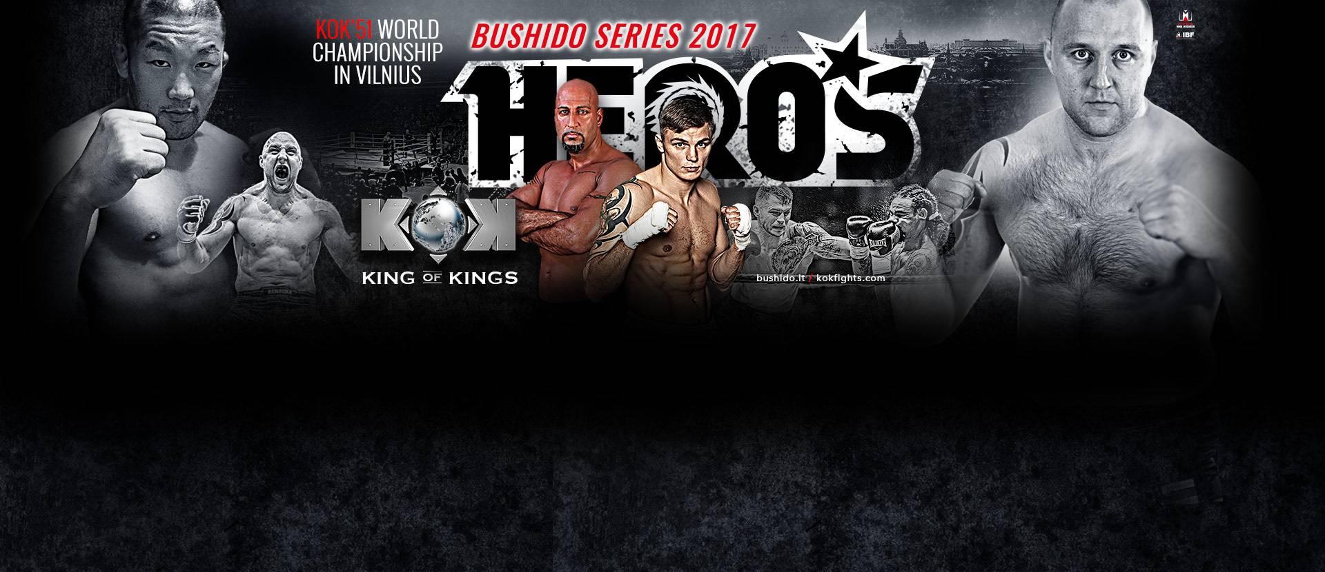 """Tarptautinis turnyras """"BUSHIDO HERO'S 2017 Vilnius"""" šou"""