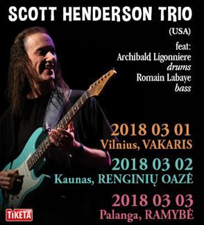SCOTT HENDERSON TRIO (JAV) koncertas Vilniuje
