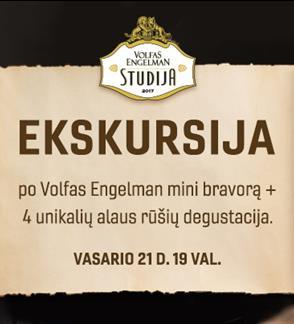 Tour and tasting at Volfas Engelman Studio