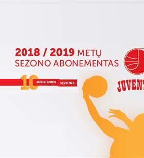 """Krepšinio klubo """"Juventus"""" 2018/2019 metų sezono abonementas"""