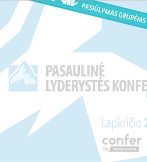 Pasiūlymai grupėms: Pasaulinė lyderystės konferencija