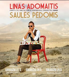 VIP ložės bilietai - Linas Adomaitis. Saulės pėdomis