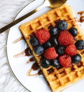 "Degustation of belgian waffles in ""Kikilio lizdas"""