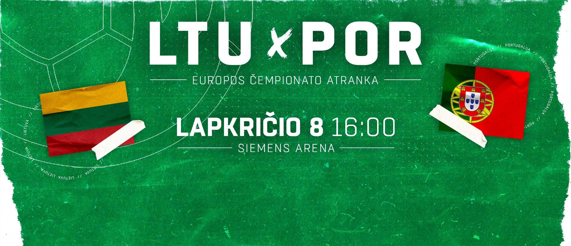 2022 m. Europos rankinio čempionato atrankos grupės rungtynės Lietuva – Portugalija