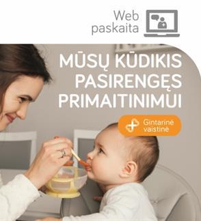 LIVE: Web Seminaras: Mūsų kūdikis pasirengęs primaitinimui!