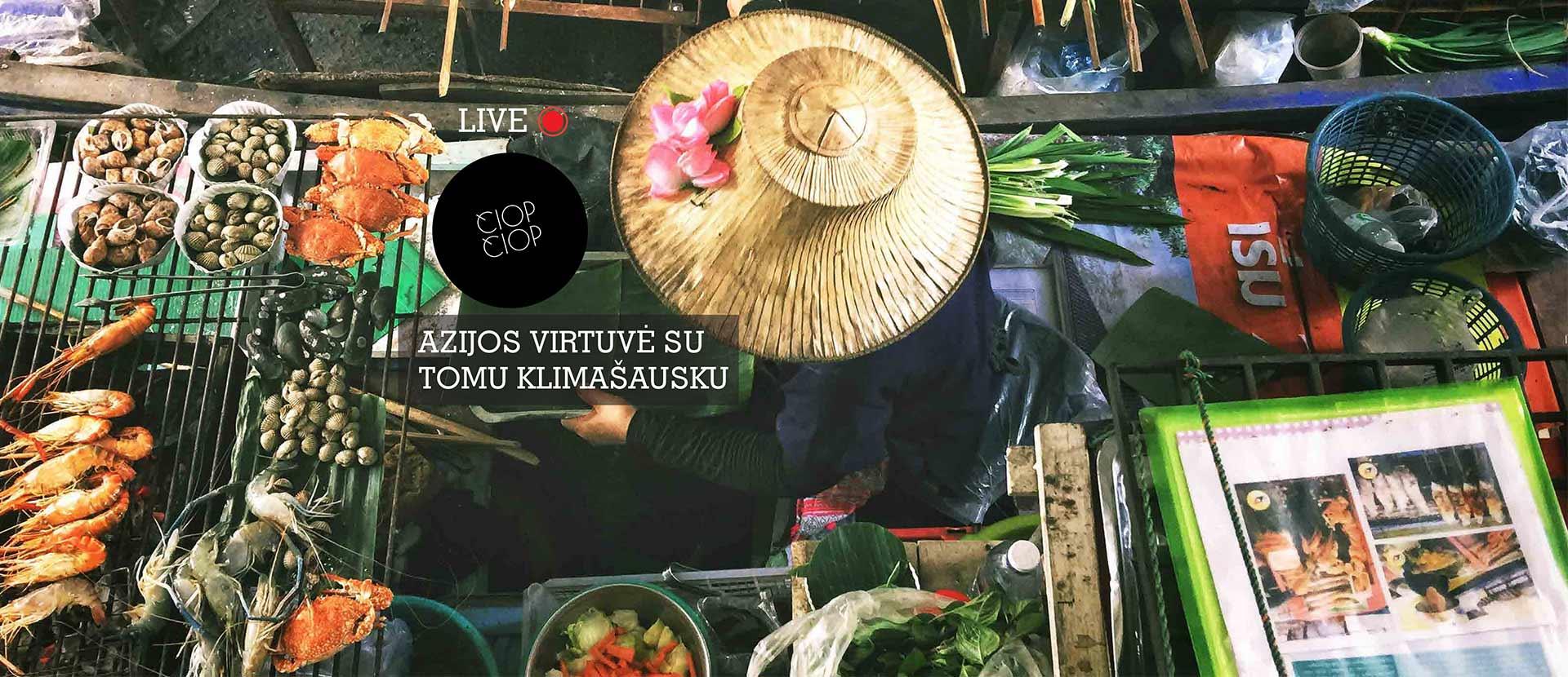 Live: Azijos virtuvė su Tomu Klimašausku